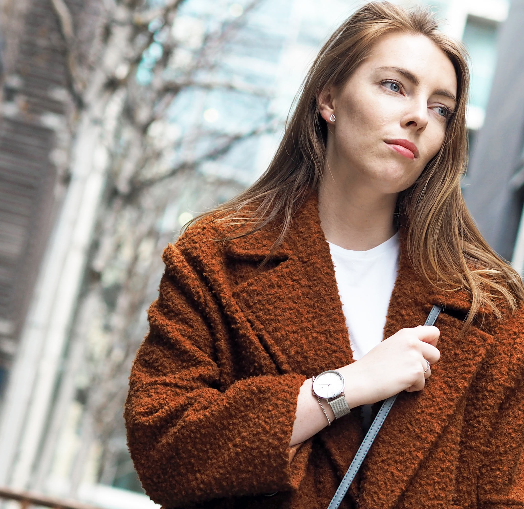 Adexe Chainmail strap Watch Topshop Boucle Coat