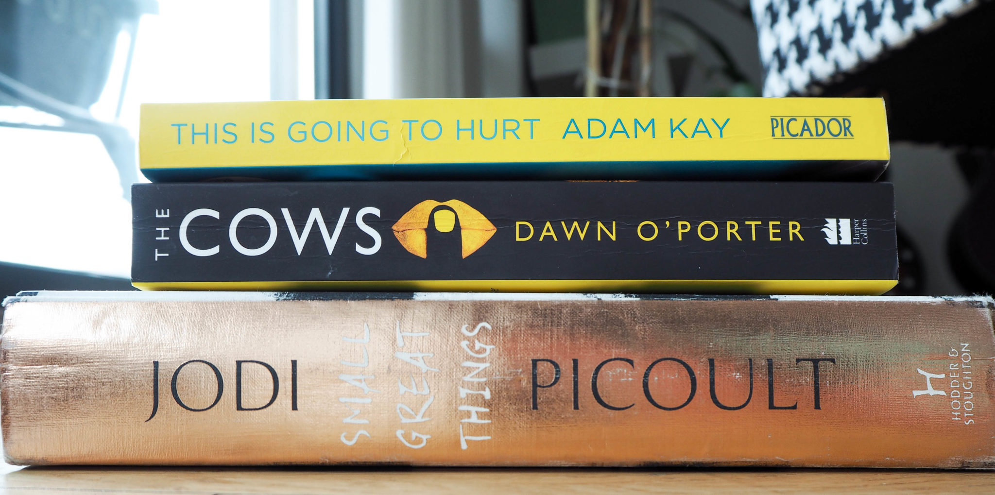 The Cows Dawn O'Porter Jodi Picoult Small Great Things This is Going to Hurt Adam Kay Lockdown Reading list
