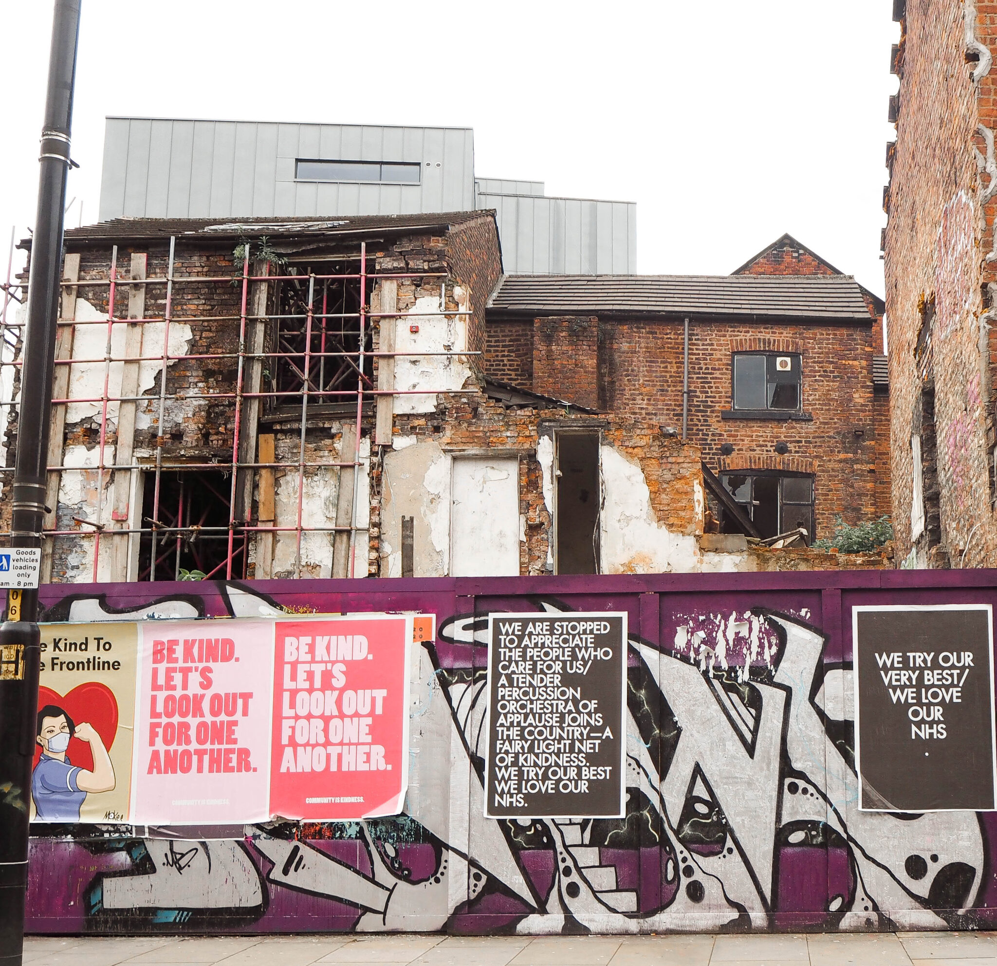 Northern quarter Manchester lockdown posters