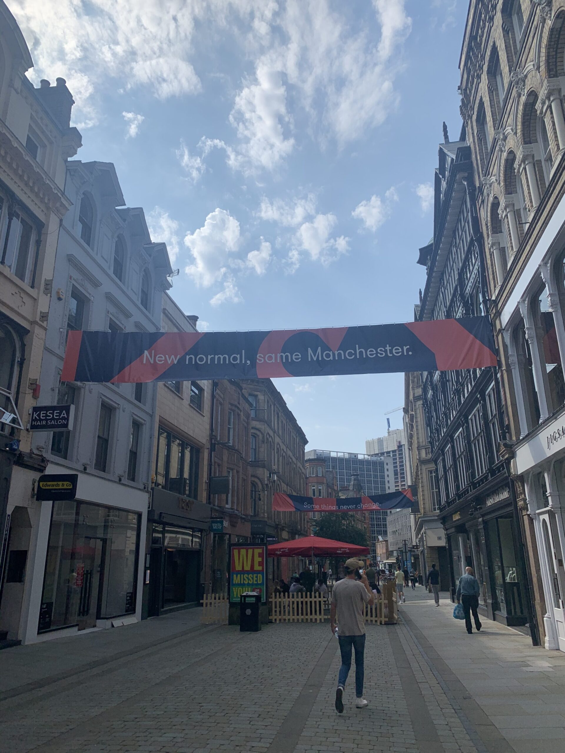 King Street Manchester in august 2020