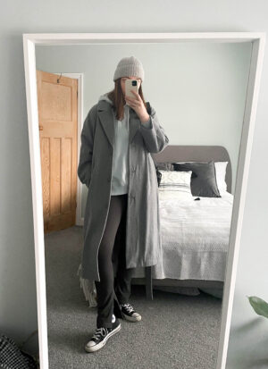 ribbed leggings chuick Taylor converse weekday wool coat